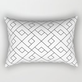 Emilia - Black and White Pattern Rectangular Pillow