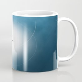 Blue Halloween Witch Silhouette Coffee Mug