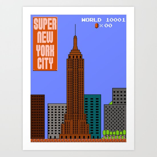 Super New York City Art Print