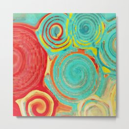 Giant Swirls Metal Print