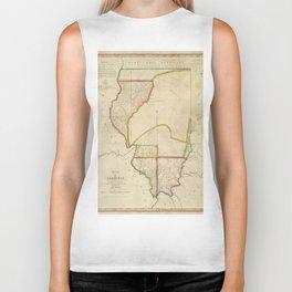 Map of Illinois 1818 Biker Tank