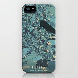 Tbilisi, Georgia - Cream Blue iPhone Case