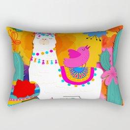 Fiesta Llama Rectangular Pillow