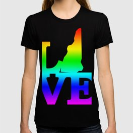 New Hampshire Pride USA State Love Map T-shirt
