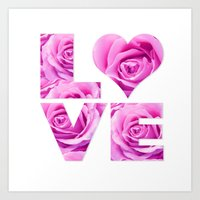 all you need is love Art Prints featuring Love is all you need by LebensART