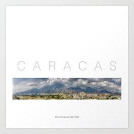 East CARACAS West Art Print