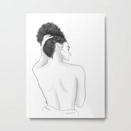 Kiss Me On My Neck Metal Print