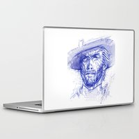 clint eastwood Laptop & iPad Skins featuring Clint by MOK designz