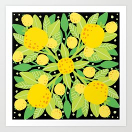 When life gives you lemons, make a lemon pattern Art Print