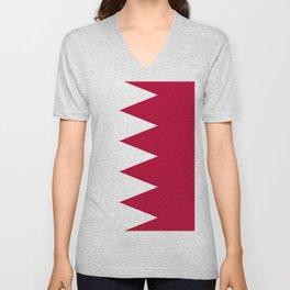 Bahrain flag emblem Unisex V-Neck