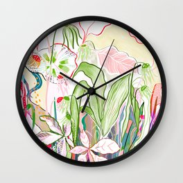 musical flora Wall Clock