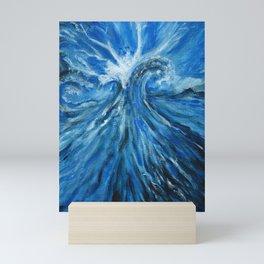 Ocean painting waves Mini Art Print