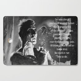 Like tears in rain - black - quote Cutting Board
