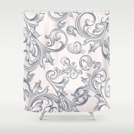 Vector fashion pattern with classic Victorian swirls and flourishes Shower Curtain