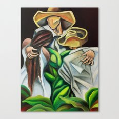 Guajiro Family, Cuban art by Miguez. Canvas Print