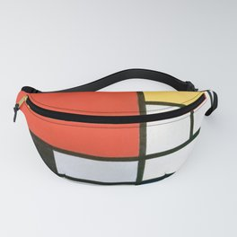 Piet Mondrian, Composition in red, yellow, blue and black Fanny Pack