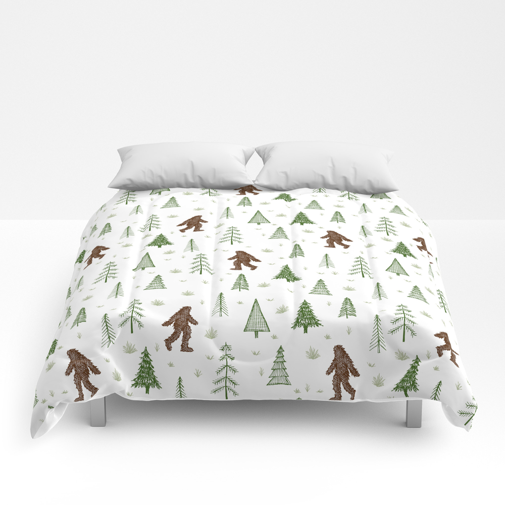 Trees + Yeti Pattern In Color Comforter by Staceywalkeroldham CMF8597777
