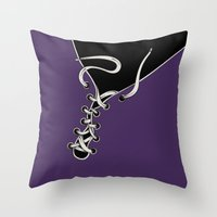 shoe Throw Pillows featuring SHOE by Gal Ashkenazi