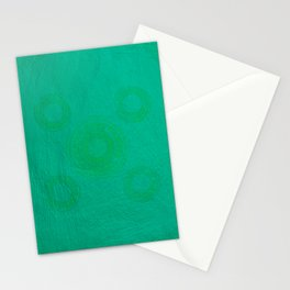 Pata Pattern in Green on Cyan Stationery Cards