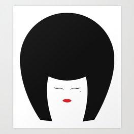 Kabuki Bobette Art Print