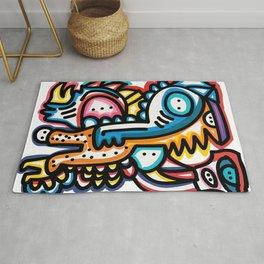 Dreaming Graffiti Art Monsters by Emmanuel Signorino© Rug