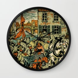 Mechelen Mosselkaai 1900 Wall Clock