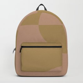 Sand Storm Beige Mid-tone Brown Circle Design 2 2021 Color of the Year Canyon Dusk Brazilian Citrine Backpack