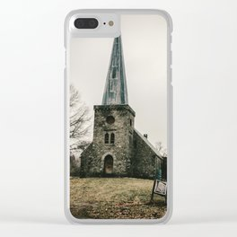 Abandoned Rural Church Clear iPhone Case