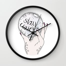 Stay Curious Wall Clock