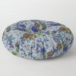 Bleu Foliage Floor Pillow