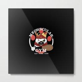 Meowscular Gym Metal Print