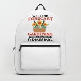 Gardener Drinking Gardening Plants Beer Lover Backpack