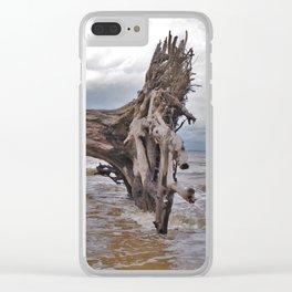 Drift Wood Beach 7 Clear iPhone Case