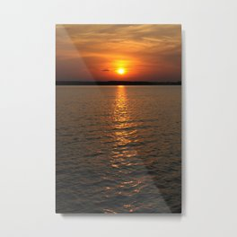 Sundown on the Lake Metal Print