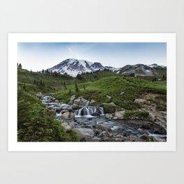 Edith Creek and Mount Rainier Art Print