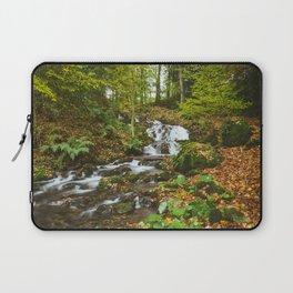 Waterfall to Lake Windermere at Millerground Landing. Lake District, UK. Laptop Sleeve