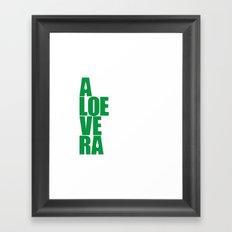 aloevera - keep calm and use aloe vera Framed Art Print