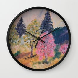 Warm colors of nature Wall Clock