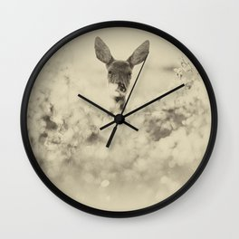 Roe Deer Wall Clock