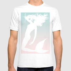 Mermaid. White Mens Fitted Tee SMALL