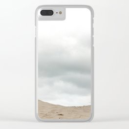 Sand_Beach_grasses_Sky Clear iPhone Case