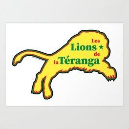 Senegal Les Lions de la Téranga (The Lions of Teranga) ~Group H~ Art Print