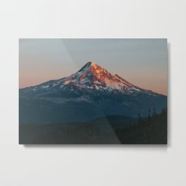 Mount Hood Sunset Metal Print