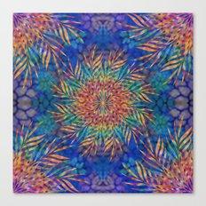 Palm Leaves Mandala Canvas Print