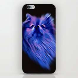 Purple Pomeranian iPhone Skin