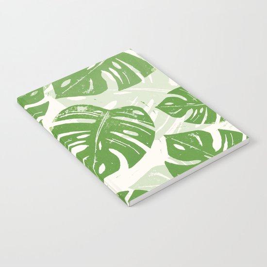 Linocut Leaf Notebook