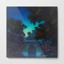 Blue Fountain at Twilight by Maxfield Parrish Metal Print