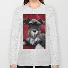 Oreo Schnauzer Puppy Long Sleeve T-shirt
