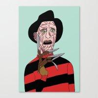 freddy krueger Canvas Prints featuring Freddy Krueger by Elena Éper