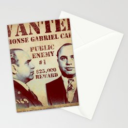 Al Capone FBI Wanted Poster Stationery Cards